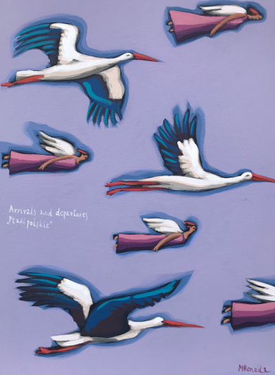 "Arrivals and departures - ""Polish birds"""